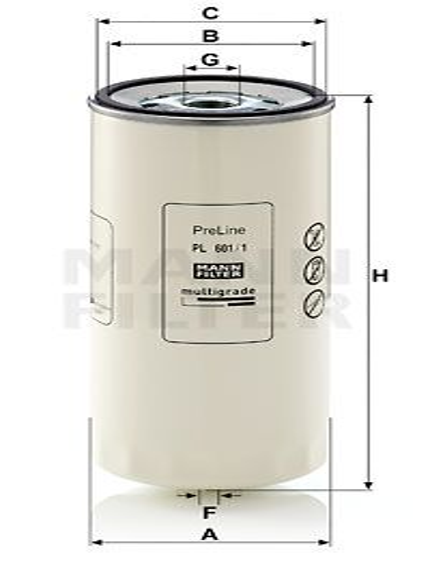 Palivový filtr MANN-FILTER P 917 x P 917 x