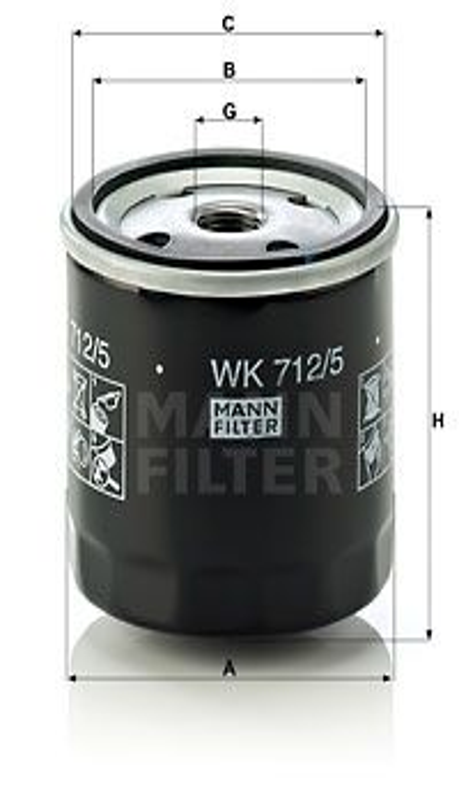 Palivový filtr MANN-FILTER WK 842/2 WK 842/2