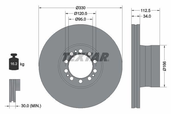 Brzdové destičky - sada TEXTAR 2165404 2165404