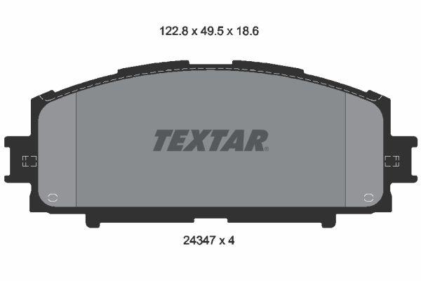 Brzdové destičky - sada TEXTAR 2003101 2003101