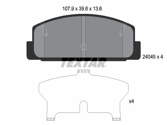 Brzdové destičky - sada TEXTAR 2404501 2404501