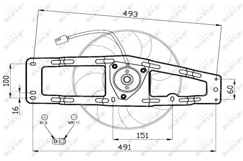 EGR ventil (AGR) NRF 48325 48325