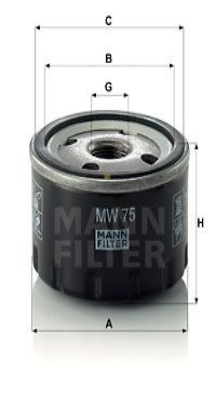 Palivový filter MANN-FILTER P 716/1 x P 716/1 x