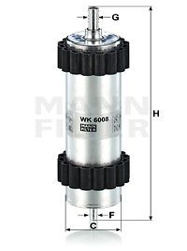 Palivový filter MANN-FILTER WK 939/12 x WK 939/12 x