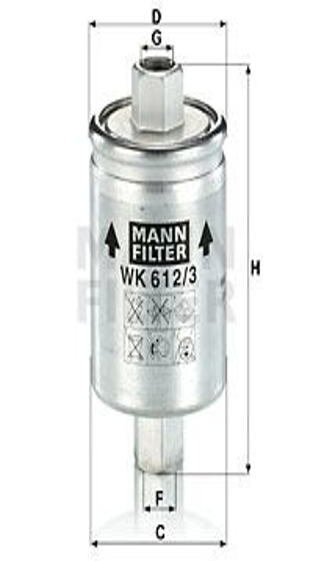 Palivový filter MANN-FILTER WK 822/2 WK 822/2