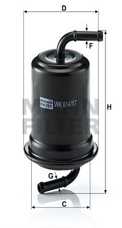 Palivový filter MANN-FILTER WK 829 WK 829