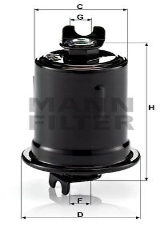 Palivový filter MANN-FILTER WK 830/3 WK 830/3