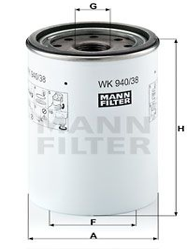 Filter pracovnej hydrauliky MANN-FILTER W 940 W 940