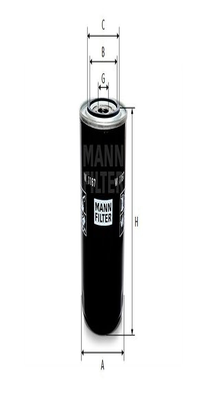 Olejový filter MANN-FILTER W 811/83 W 811/83