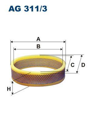 Vzduchový filter FILTRON AM 409/1 AM 409/1