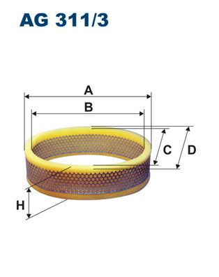 Vzduchový filter FILTRON AM 416/3 AM 416/3