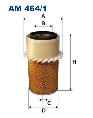 Vzduchový filter FILTRON AP 026/4 AP 026/4