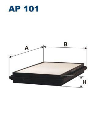 Vzduchový filter FILTRON AP 122/1 AP 122/1