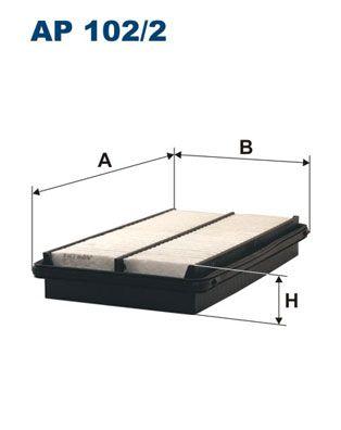 Vzduchový filter FILTRON AP 122/4 AP 122/4