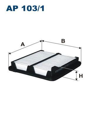 Vzduchový filter FILTRON AP 123/1 AP 123/1
