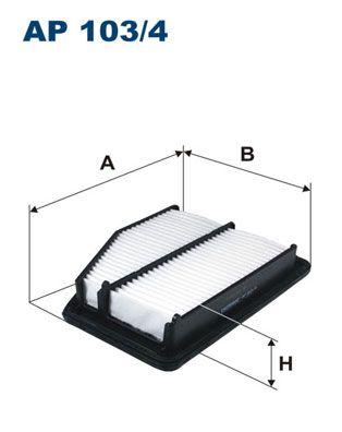 Vzduchový filter FILTRON AP 124/1 AP 124/1