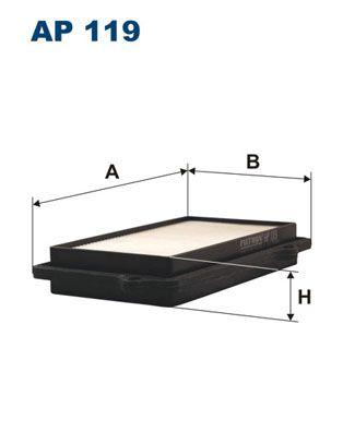 Vzduchový filter FILTRON AP 143/4 AP 143/4