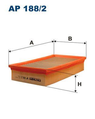 Vzduchový filter FILTRON AR 257/3 AR 257/3