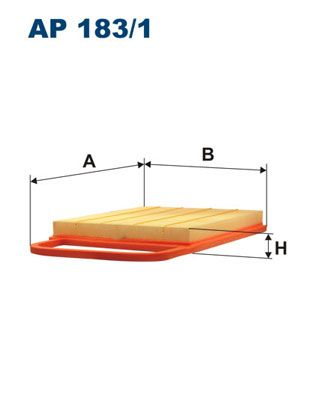 Vzduchový filter FILTRON AR 234/4 AR 234/4