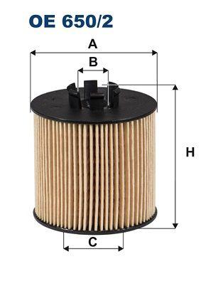 Olejový filter FILTRON OP 584 OP 584