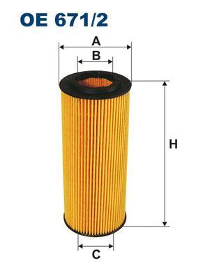 Olejový filter FILTRON OP 626/4 OP 626/4
