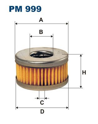 Palivový filter FILTRON PP 968/1 PP 968/1