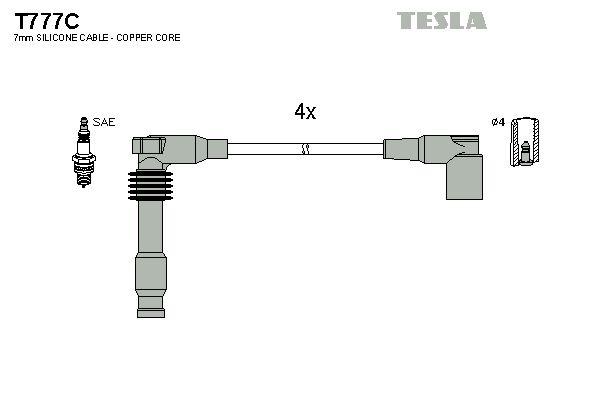 Sada zapaľovacích káblov TESLA T777C T777C