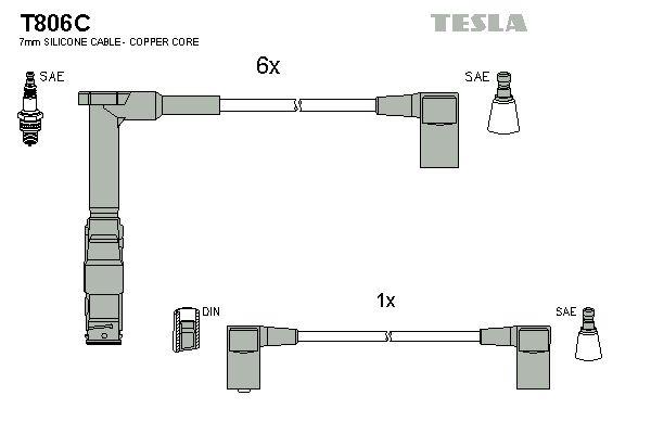 Sada zapaľovacích káblov TESLA T806C T806C