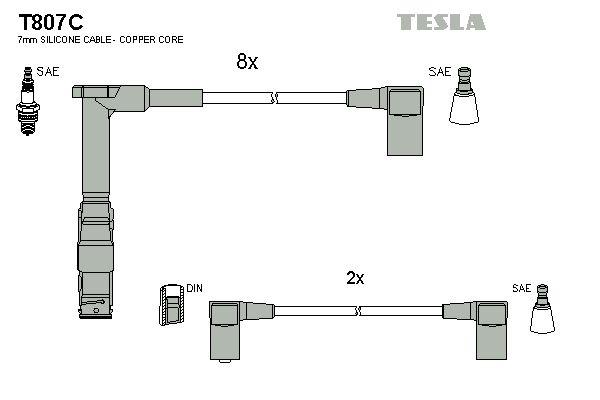 Sada zapaľovacích káblov TESLA T807C T807C
