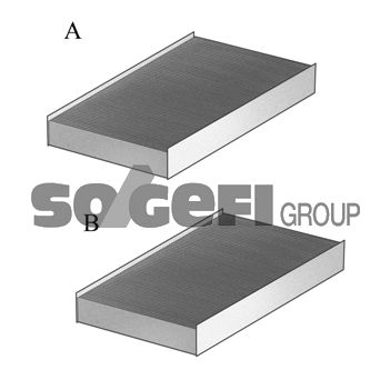 Filter vnútorného priestoru CoopersFiaam PCA8168-2 PCA8168-2