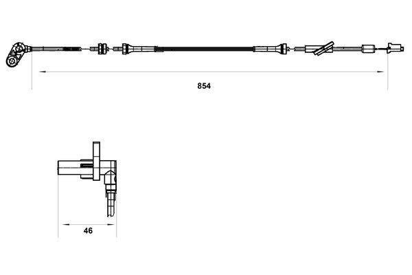 Snímač plniaceho tlaku BOSCH 0 261 230 208 0 261 230 208