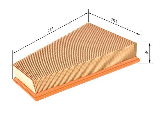 Vzduchový filter BOSCH F 026 400 155 F 026 400 155