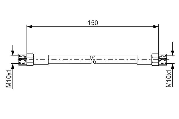 Snímač tlaku v sacom potrubí BOSCH 0 261 230 044 0 261 230 044