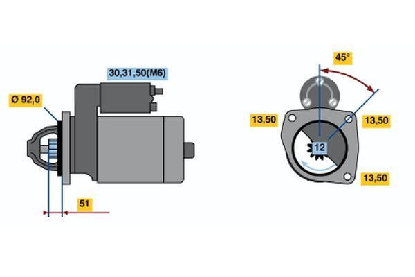 Regulačný ventil chladenia BOSCH 1 147 412 049 1 147 412 049