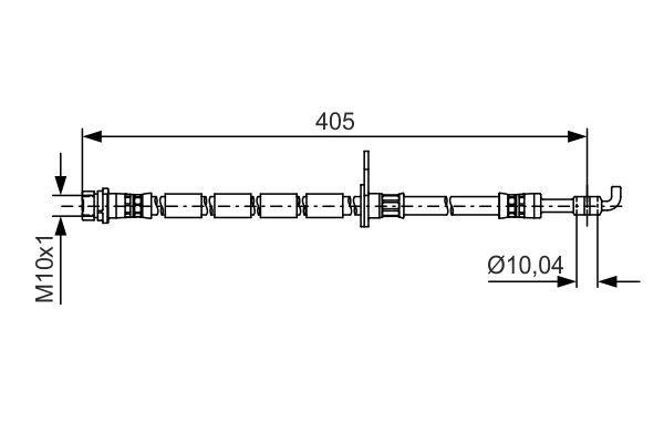 Snímač plniaceho tlaku BOSCH 0 261 230 206 0 261 230 206