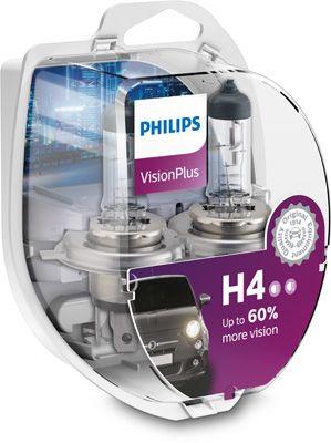 Philips VisionPlus H4 P43t-38 12V 60/55W 12342VPS2 12342VPS2