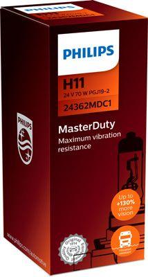 Philips MasterDuty H11 PGJ19-2 24V 70W 24362MDC1 24362MDC1