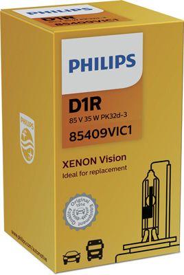 Philips xenónová výbojka D1R 85V 35W PK32d Vision PHILIPS 85409VIC1 85409VIC1