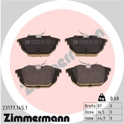 Sada brzdových platničiek kotúčovej brzdy ZIMMERMANN 23177.145.1 23177.145.1