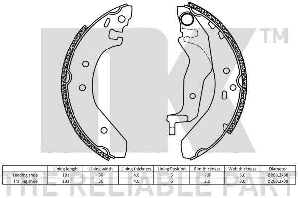 Ochranný plech proti rozstreku, Brzdový kotúč NK 233504 233504
