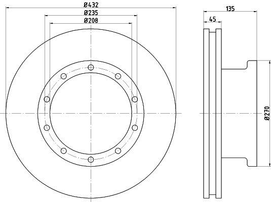 Sada brzdových platničiek kotúčovej brzdy TEXTAR 2513301 2513301