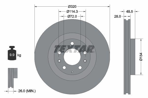 Sada brzdových platničiek kotúčovej brzdy TEXTAR 2260201 2260201