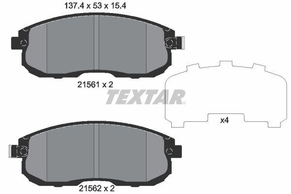 Sada brzdových platničiek kotúčovej brzdy TEXTAR 2917705 2917705