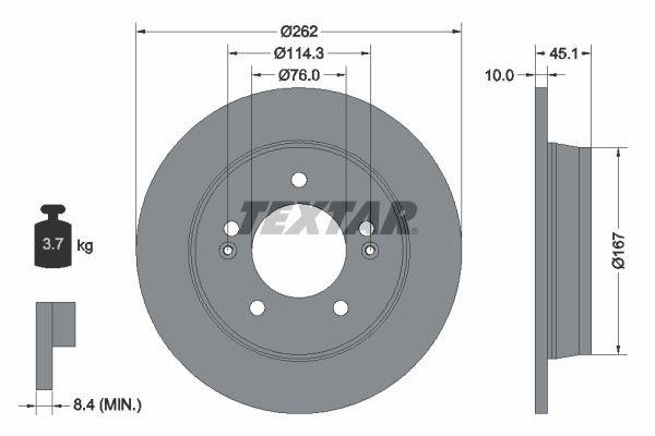 Sada brzdových platničiek kotúčovej brzdy TEXTAR 2558903 2558903