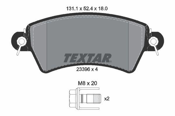 Sada brzdových platničiek kotúčovej brzdy TEXTAR 2214103 2214103