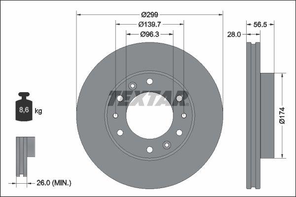 Sada brzdových platničiek kotúčovej brzdy TEXTAR 2279101 2279101