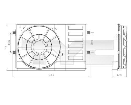 Drżiak ventilátora chladiča TYC 837-0034-1 837-0034-1