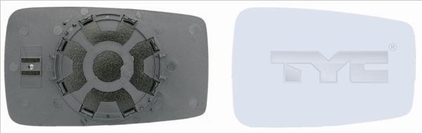 Sklo vonkajżieho zrkadla TYC 302-0001-1 302-0001-1