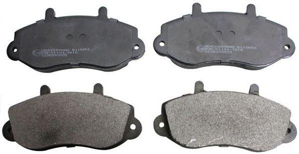 Sada brzdových platničiek kotúčovej brzdy DENCKERMANN B110654 B110654