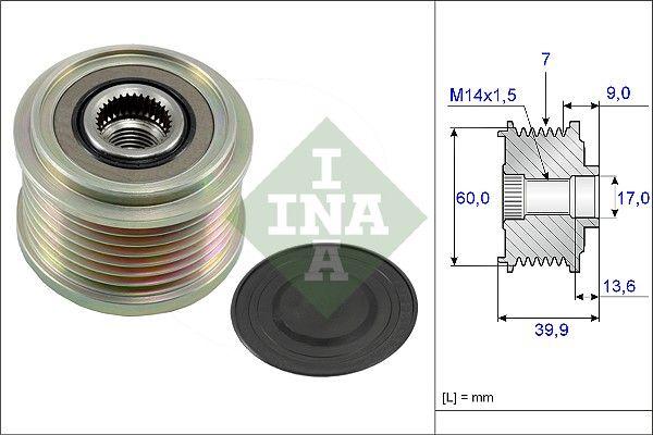 Obehová/vodiaca kladka ozubeného remeňa INA 532 0225 10 532 0225 10